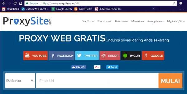 Membuka situs yang diblokir Google Chrome tanpa bantuan aplikasi android