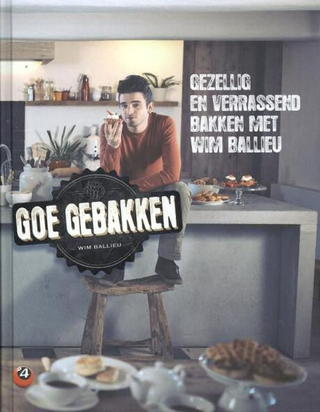 Wim Ballieu op de cover van het derde Goe Gebakken kookboek