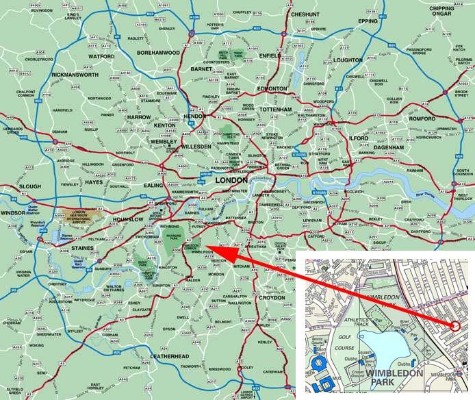 map wimbledon london