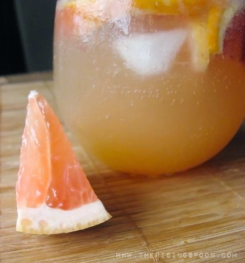 Blood Orange & Grapefruit White Wine Sangria