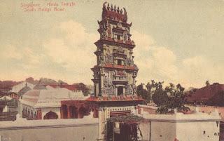 postcard, singapore, hindu