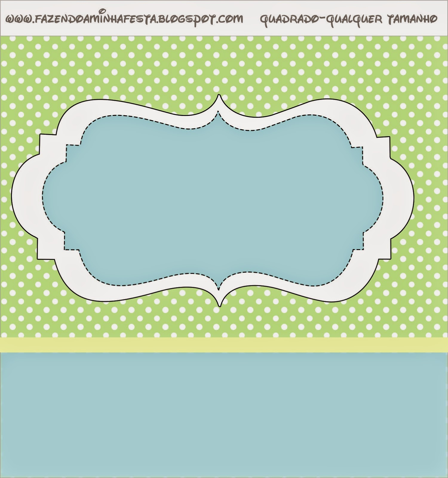 Sweet 16  Green and Light Blue Free Printable Labels.