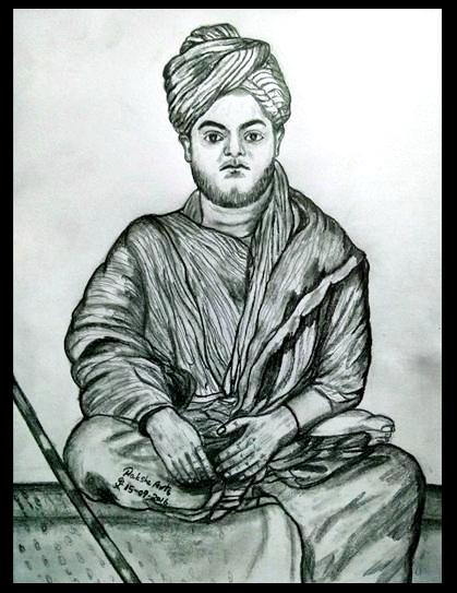 PENCIL DRAWING - Swami Vivekananda