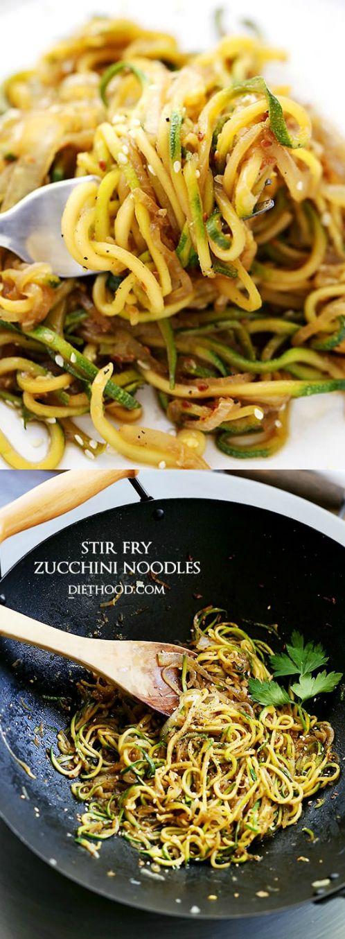 Low Carb Stir Fry Zucchini Noodles (Zoodles!)