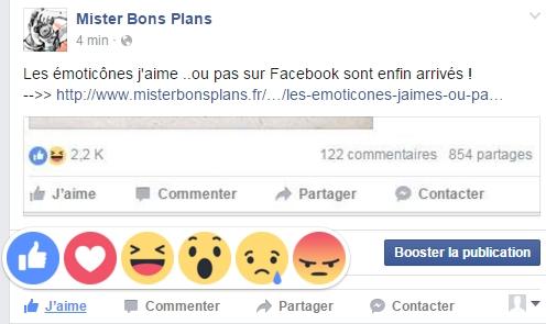 Les émoticônes , j'aime pas, sur Facebook