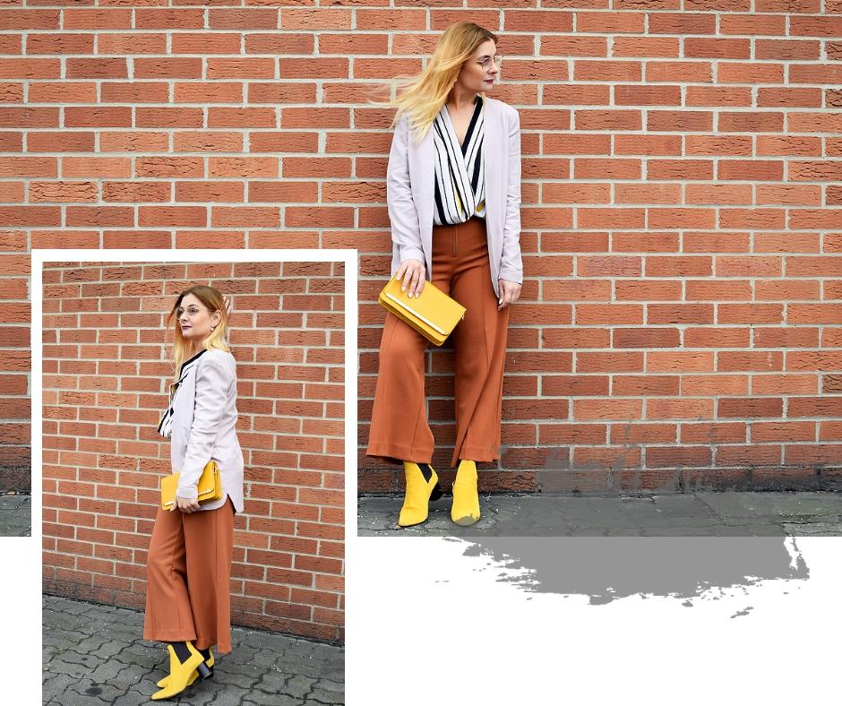 wie kombiniere ich unterschiedliche Farben in einem Look, Modeblog
