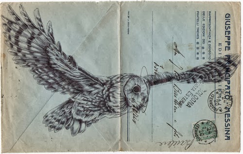 My Owl Barn Bird Drawings On Envelopes