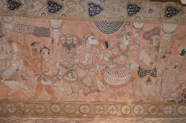 Paintings on Veerabhadra Temple Ceilings, Lepakshi, Andhra Pradesh