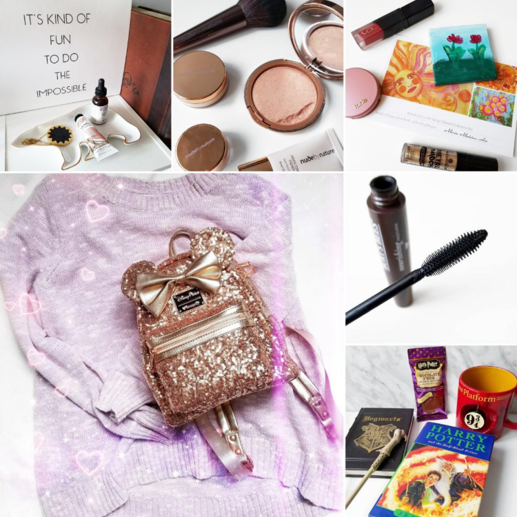 bblogger, bbloggerca, canadian beauty blog, lifestyle blogger, instagram, roundup, instamonth, homesense, legendary apothecary, foot oil, nude by nature, sheer pressed illuminator, highlighter, best day blogger, loungefly, rose gold, minnie ears, backpack, burts bees, nourishing mascara, harry potter, hufflepuff, book day