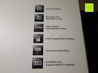 Eigenschaft: GHB 8GB Digitales Diktiergerät Aufnahmegerät Audio Voice Recorder mit Stereoaufnahmen, MP3 Player und USB Spericher -Schwarz
