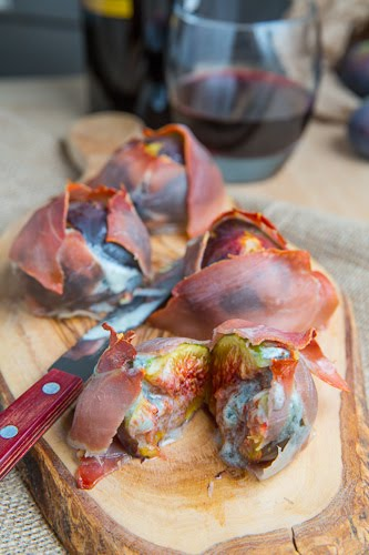 Prosciutto Wrapped Gorgonzola Stuffed Figs