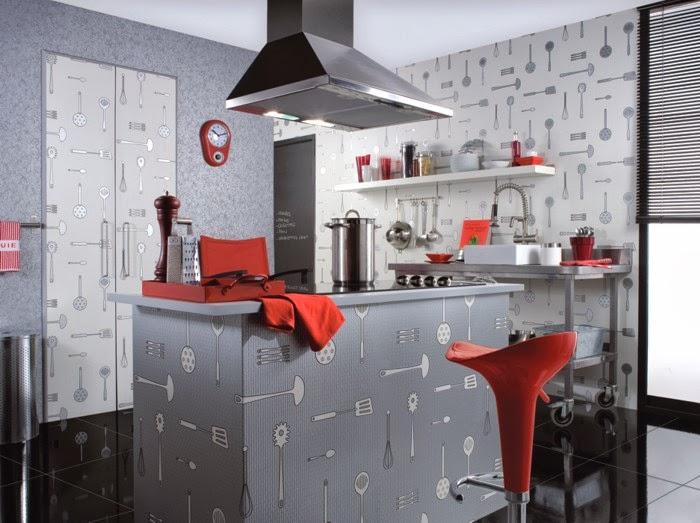 Marzua: Papel pintado para cocinas