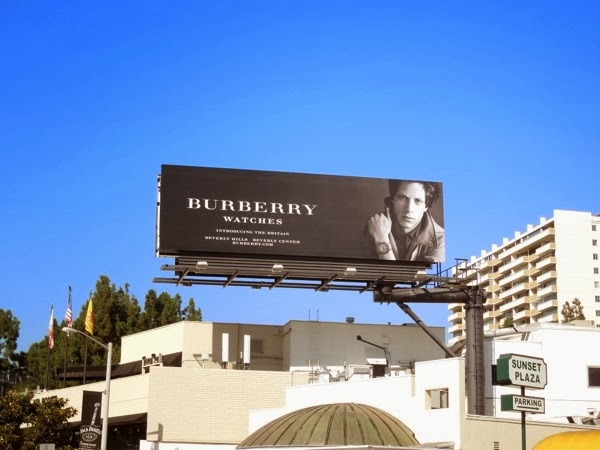 Burberry watches Britain Rob Pryor billboard 2012