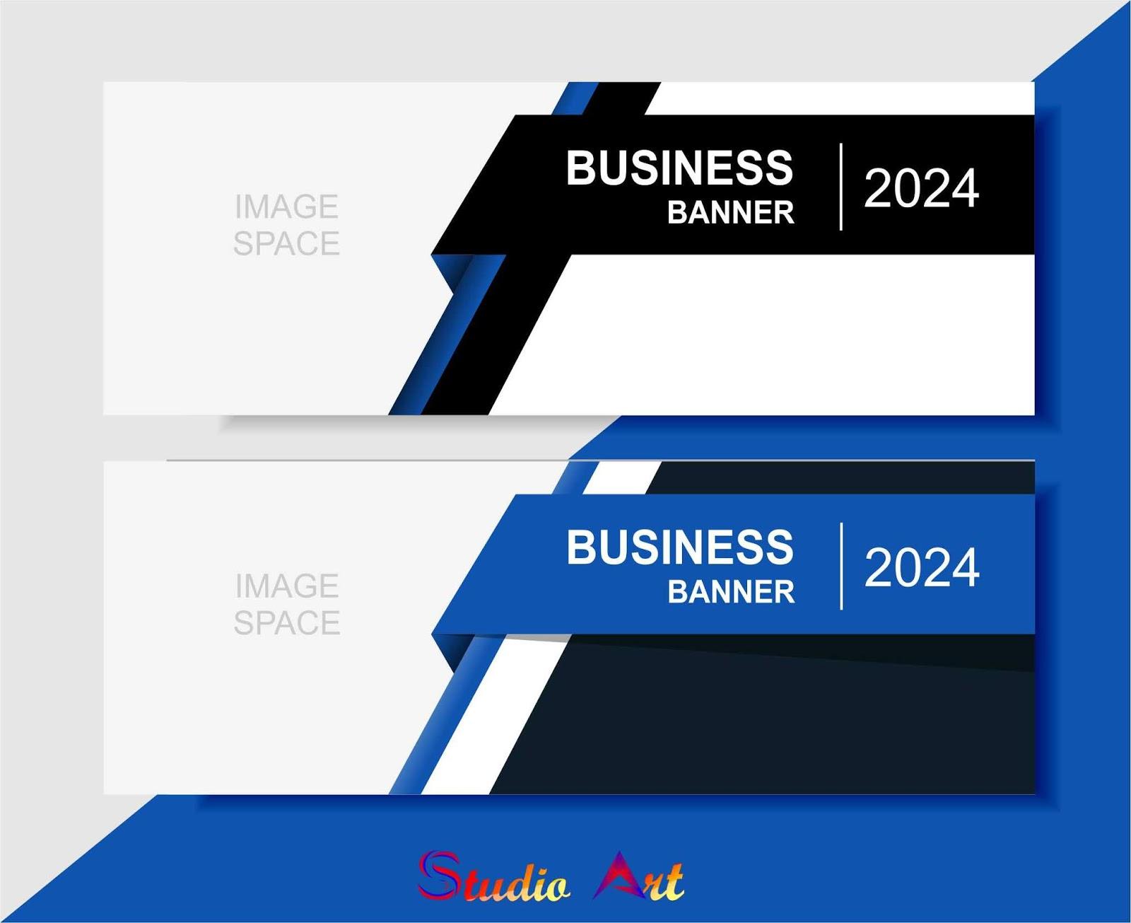 Desain Banner untuk Bisnis dengan Tampilan Elegan - Studio Art