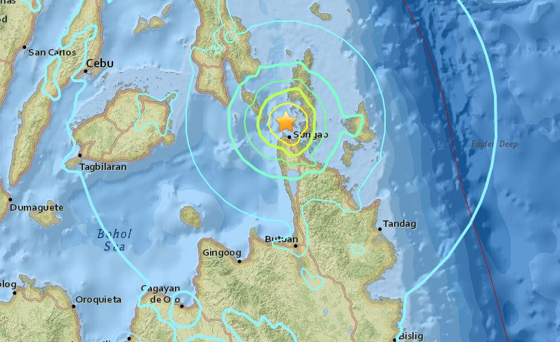 Magnitude 6.7 earthquake hits Surigao City