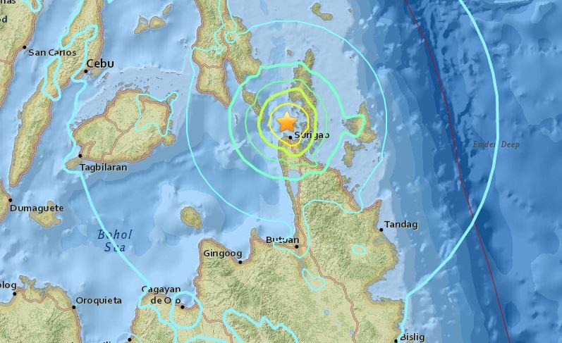 Magnitude 6.7 earthquake hits Surigao City