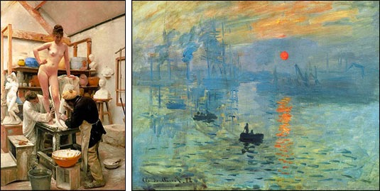 Academics vs. Impressionists
