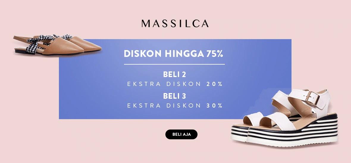 MatahariMall -  Promo Diskon s.d 75% Fashion Massilca + Ekstra Diskon s.d 30%
