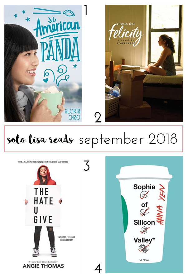 Life and style blogger Solo Lisa's September 2018 book review round-up