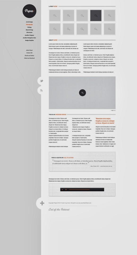 Paper – Website psd template