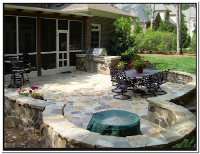 Pics Of Stone Patios Outdoor
