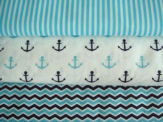 Námornické bavlnené látky modré