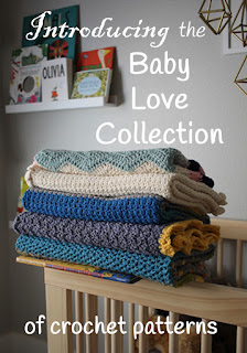 Baby Love Collection of baby blanket crochet patterns by Little Monkeys Design
