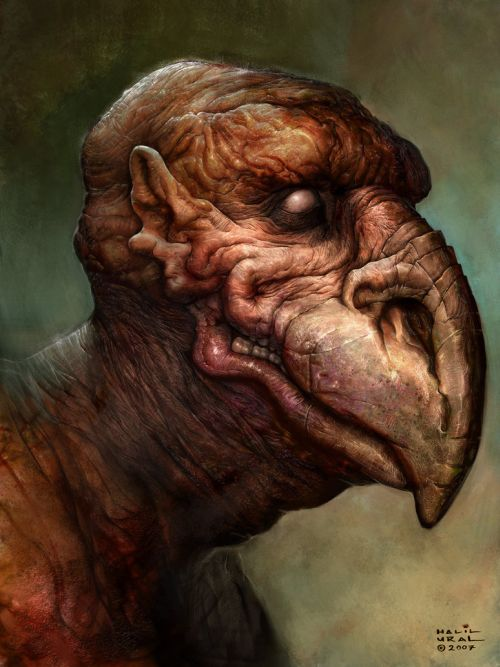 Halil Ural mrdream deviantart ilustrações fantasia arte conceitual Homem pássaro