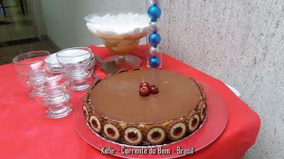 TORTA CHEESE CAKE DE KEFIR DE LEITE COM GANACHE