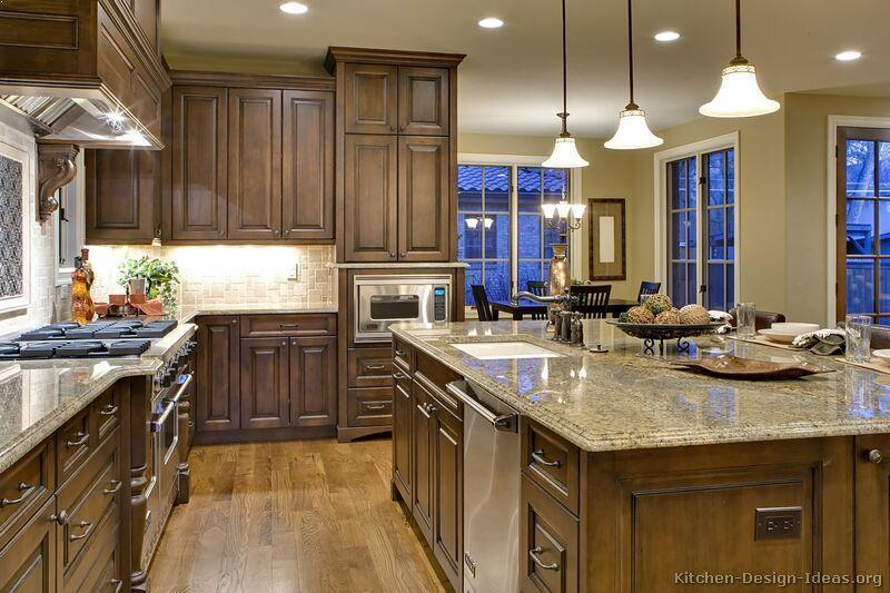 Kitchen Colors With Dark Wood Cabinets Home Interior
