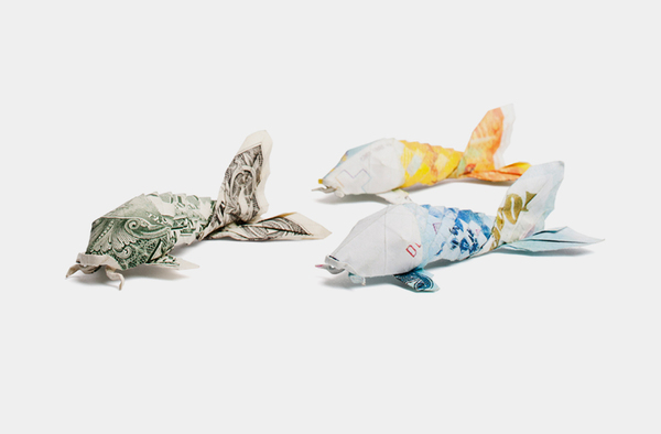 money origami - euro dollar bill origami