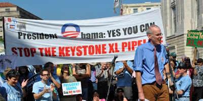Bill McKibben, pictured speaking at an environmental protest in the US, says civil action can help save the planet. (Image Credit: chesapeakeclimate via Flickr) Click to Enlarge.
