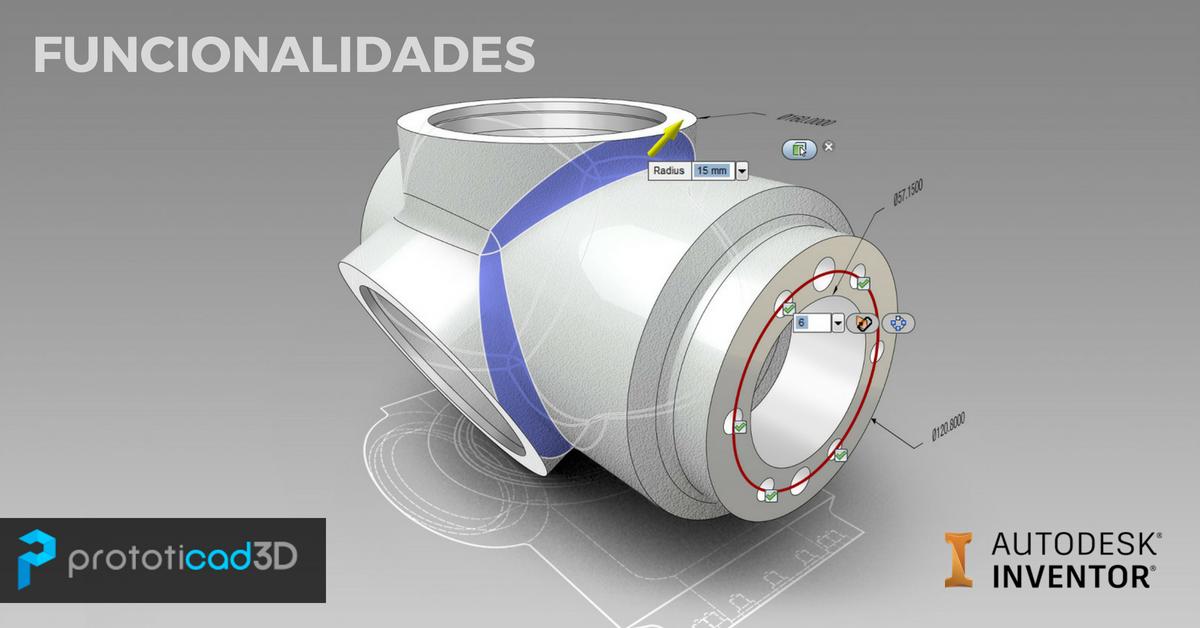 Funcionalidades de Autodesk Inventor