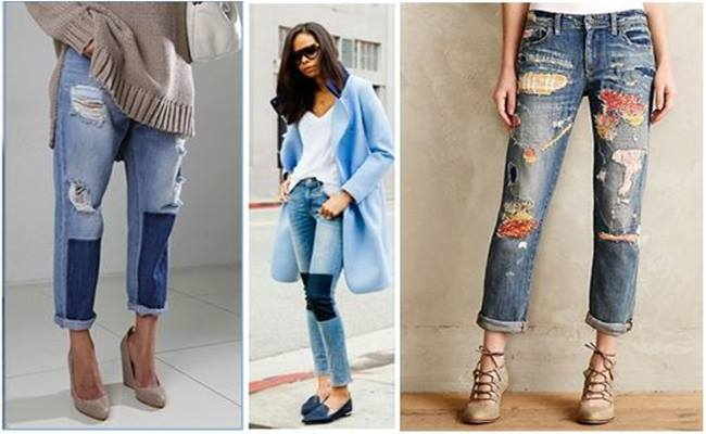 PATCHWORK em Calça Jeans Modelos