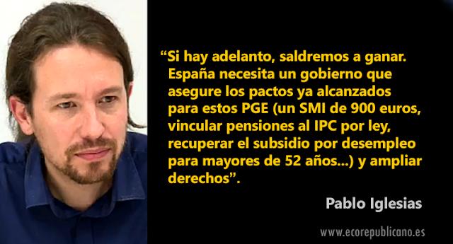 Pablo Iglesias analiza el posible adelanto electoral