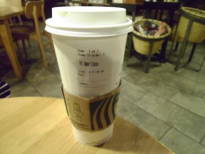 Starbucks Venti Caffe Americano Cup