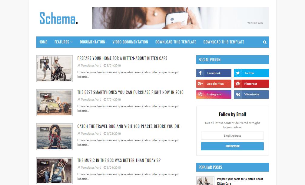 Schema Niche Blogger Template