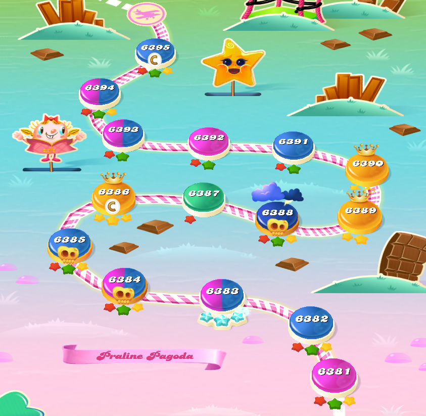 Candy Crush Saga level 6381-6395