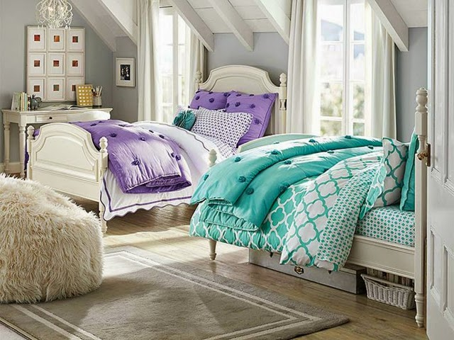 Cuartos peque os para hermanas adolescentes dormitorios - Muebles postigo dos hermanas ...