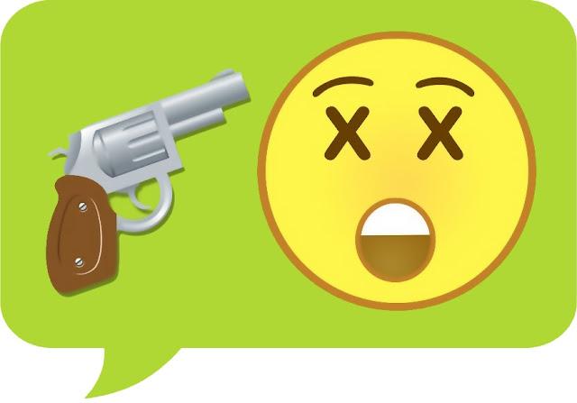Suicide Emoji - gun - death