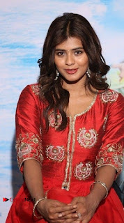 Actress Heba Patel Latest Stills in Red Dress at Mister Movie Trailer Launch Event  0006.jpg
