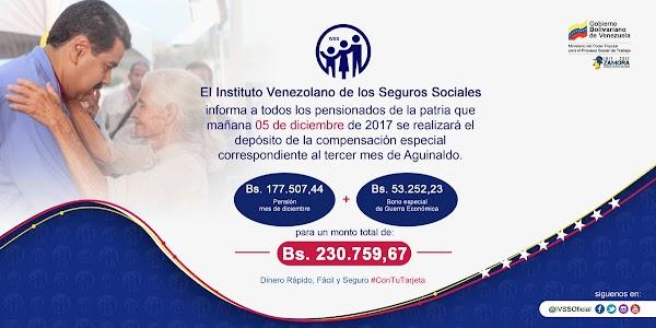 IVSS anuncia pago de compensación especial a los pensionados mañana martes #5Dic