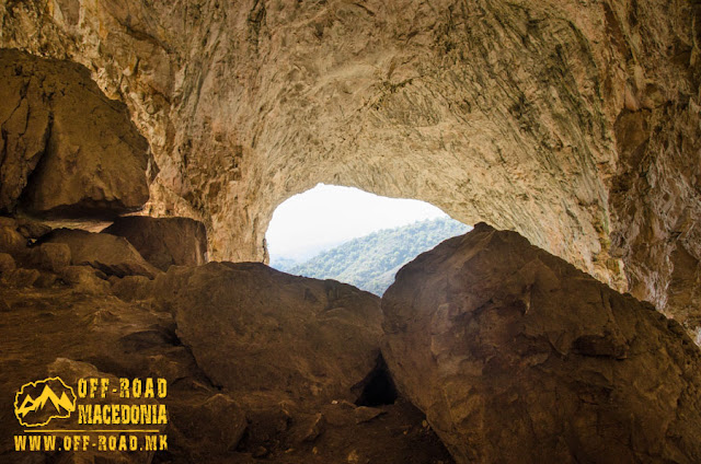 View from the interior of Peshna cave, Makedonski Brod, Macedonia