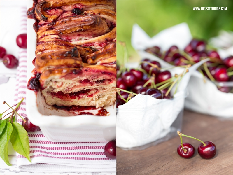 Kirsch Zupfbrot Mit Kirschen Und Marzipan Thermomix Rezept