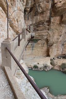 Caminito del Rey Alora Malaga Estado Anterior a Remodelacion Vista Precipicio