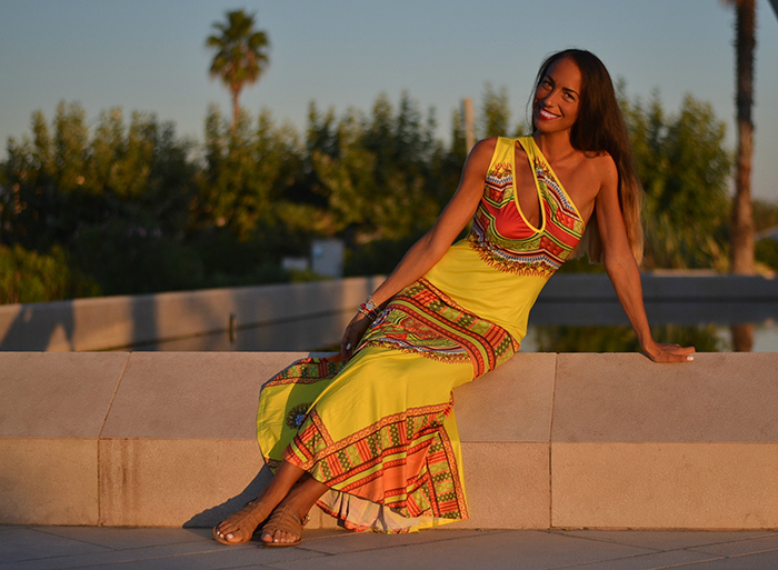 maxi dress tribale