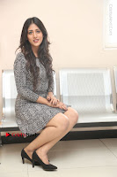 Actress Chandini Chowdary Pos in Short Dress at Howrah Bridge Movie Press Meet  0145.JPG