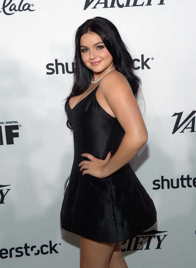 Ariel Winter wears a sexy LBD to the pre-Emmys Bash in LA