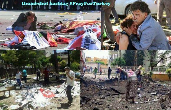 prayforturkey bom bunuh diri di Turki