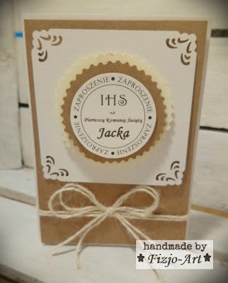 Zaproszenia dla Jacka na I Komunię Świętą